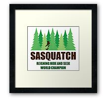 Bigfoot Sasquatch Hide and Seek World Champion Framed Print