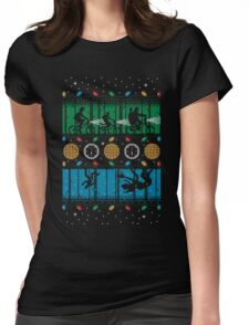 Upside Down Christmas Womens Fitted T-Shirt