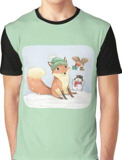 Christmas Fox Graphic T-Shirt