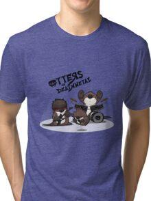 OTTERS OF DEATHMETAL v.1 Tri-blend T-Shirt