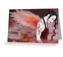 Earthbound Angel - Self Portrait Greeting Card