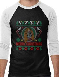 Basset Hound Dog Ugly Christmas Sweater T-Shirt, Funny Men Women Love Dog T-Shirt Men's Baseball ¾ T-Shirt