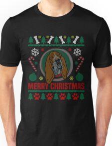 Basset Hound Dog Ugly Christmas Sweater T-Shirt, Funny Men Women Love Dog T-Shirt Unisex T-Shirt