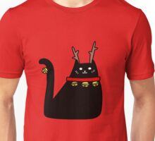Reindeer Black Cat Unisex T-Shirt