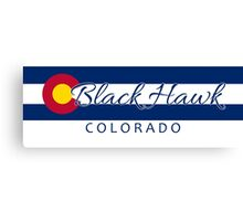 Black Hawk Colorado flag stripe Canvas Print