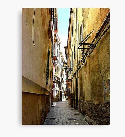 An Alley In Palma..................................Majorca Canvas Print