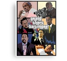 The Wire + Grand Theft Auto   Grand Theft Baltimore Metal Print