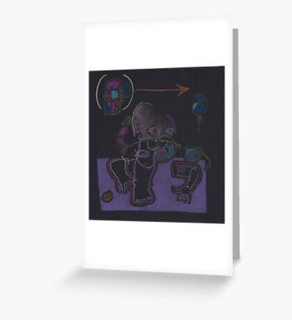 Night Drawings - Les Dessins de Nuit n°04 (serie 2)  - Kathy's Doll Greeting Card
