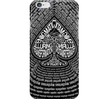 The Black Book Ace of Spades iPhone Case/Skin