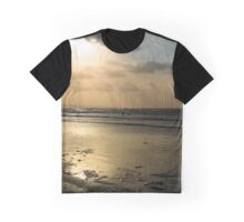 lone surfer on the winter waves Graphic T-Shirt