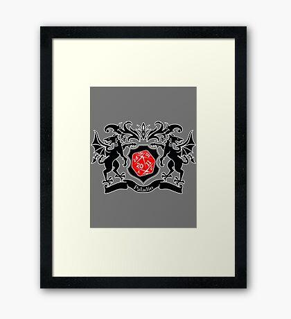 Coat of Arms - Paladin Framed Print