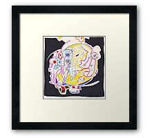 Night Drawings - Les Dessins de Nuit n°57  - Full Moon 3 : The last of the First Serie !!!!!!!!! Framed Print