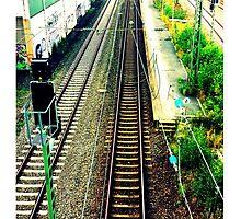 train rail in cologne by palluch atelier by Krzyzanowski Art