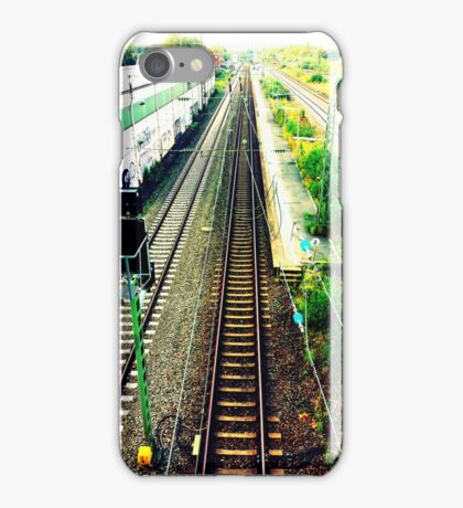 train rail in cologne by palluch atelier iPhone Case/Skin