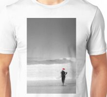 santa surf - shore walk Unisex T-Shirt