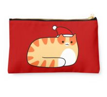 Santa Hat Orange Tabby Cat Studio Pouch