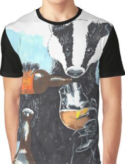 Craft Beer Badger Graphic T-Shirt