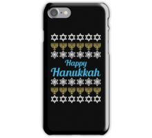 Happy Hanukkah Ugly Christmas Sweater T-Shirt, Men Women Hanukkah Gift Shirt iPhone Case/Skin