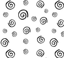 Spirals Pattern black & white Sticker