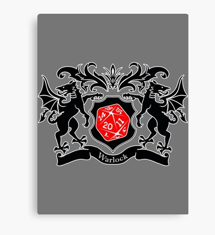 Coat of Arms - Warlock Canvas Print
