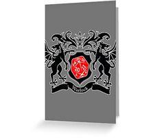 Coat of Arms - Warlock Greeting Card
