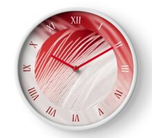 Extreme closeup of fluffy feather Clock