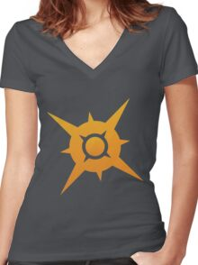 Pokemon Sun Women's Fitted V-Neck T-Shirt