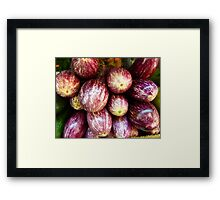 Aubergines..................................Plus Recipe Framed Print