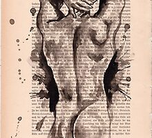 Nude HQ-Foto of my original ink drawing - Art. Palluch by Krzyzanowski Art