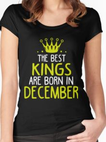 Kings are born in December shirt Women's Fitted Scoop T-Shirt