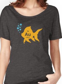 Periodic Table Elemental Gold Fish Women's Relaxed Fit T-Shirt