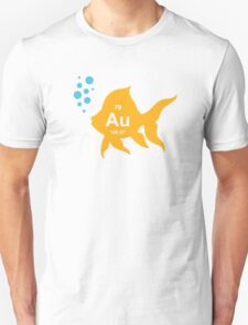 Periodic Table Elemental Gold Fish Unisex T-Shirt