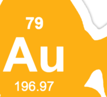 Periodic Table Elemental Gold Fish Sticker