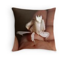 Bell the Orchid Mantis Throw Pillow