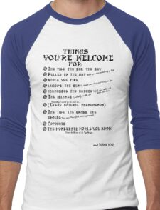 Maui Lyrics - You're Welcome, Reference. Men's Baseball ¾ T-Shirt