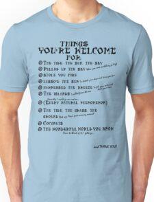 Maui Lyrics - You're Welcome, Reference. Unisex T-Shirt