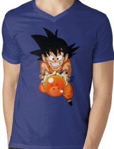 Dragon ball and Goku Mens V-Neck T-Shirt