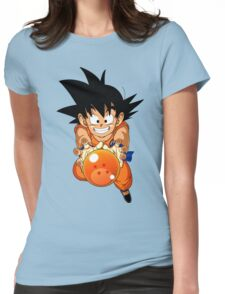 Dragon ball and Goku Womens Fitted T-Shirt