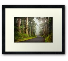 Foggy Road... Framed Print