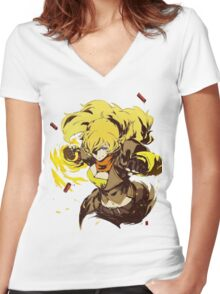 YANG Women's Fitted V-Neck T-Shirt