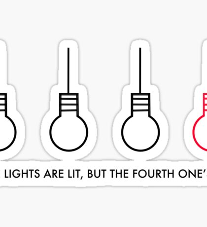 """""""Three lights are lit, but the fourth one's out"""" - The Judge (Twenty One Pilots) Sticker"""