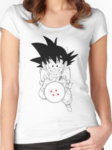 Goku and ball Women's Fitted Scoop T-Shirt