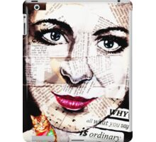 old book drawing famous people collage iPad Case/Skin