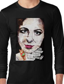 old book drawing famous people collage Long Sleeve T-Shirt