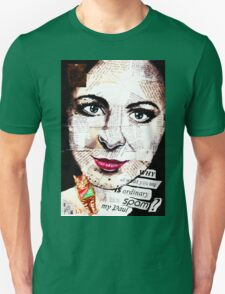 old book drawing famous people collage Unisex T-Shirt