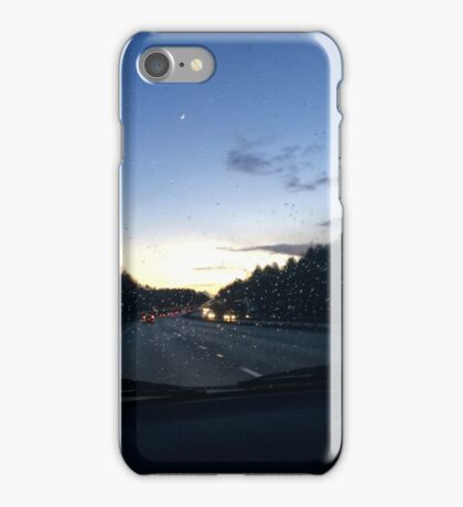 Rainy evening through the windscreen iPhone Case/Skin