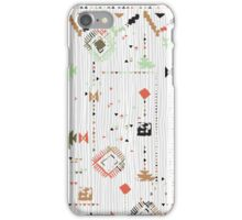 Print with stripes and lines, abstract shapes and dots iPhone Case/Skin