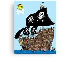 Pirate Ship Escape Canvas Print