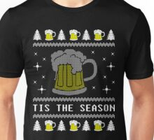 Tis The Season Love Beer Ugly Christmas Sweater Gift T-Shirt Unisex T-Shirt