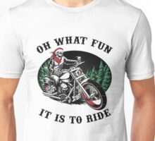 Ugly Christmas T-Shirts For Bikers!  Unisex T-Shirt